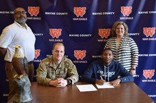 Wayne County Senior Signs with Air Force on Veterans Day