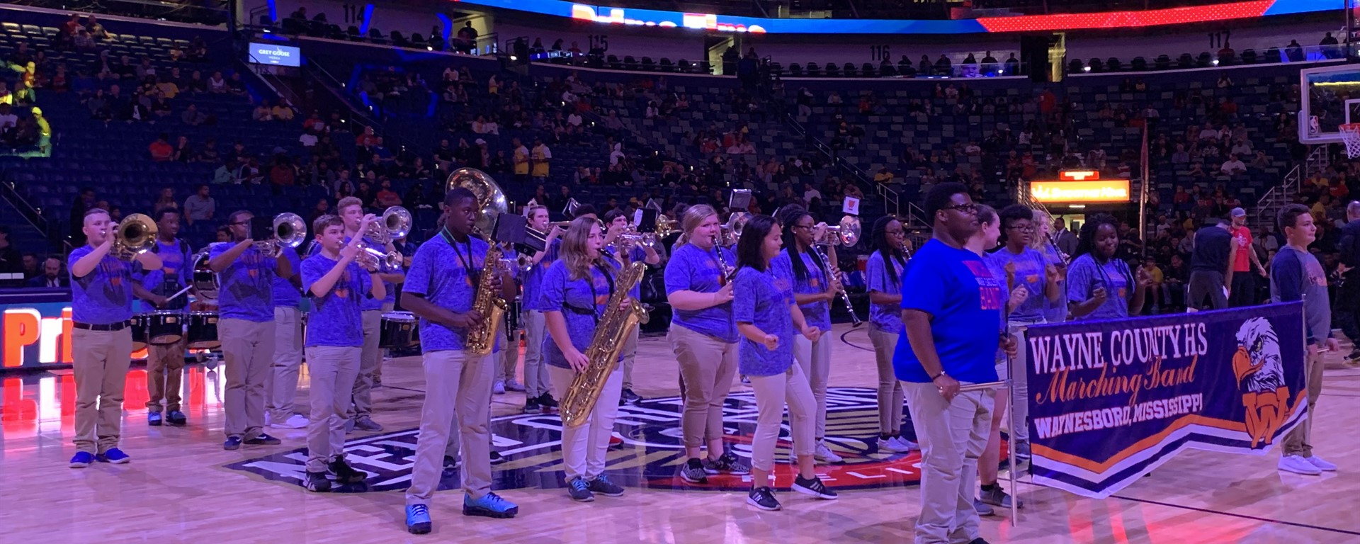 WCHS Band at New Orleans Pelicans Basketball Game