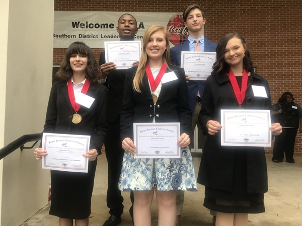 Members who placed at FBLA District Competition