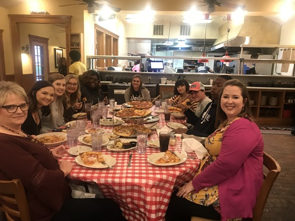 FBLA enjoying Sal & Mookie's after a long day of travel and competition.