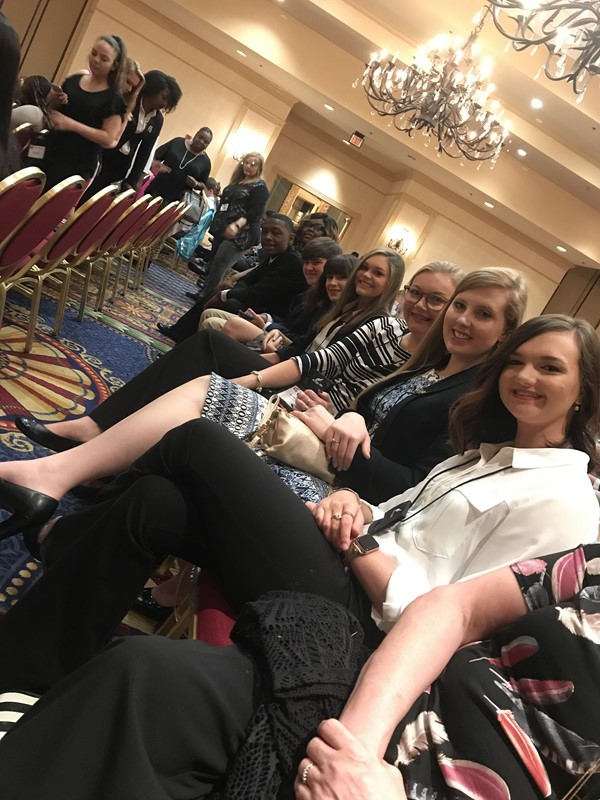 FBLA members before the 2019 SLC Awards Presentation.