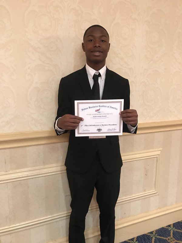 Bakari E. 3rd Place in Introduction to Business Procedures