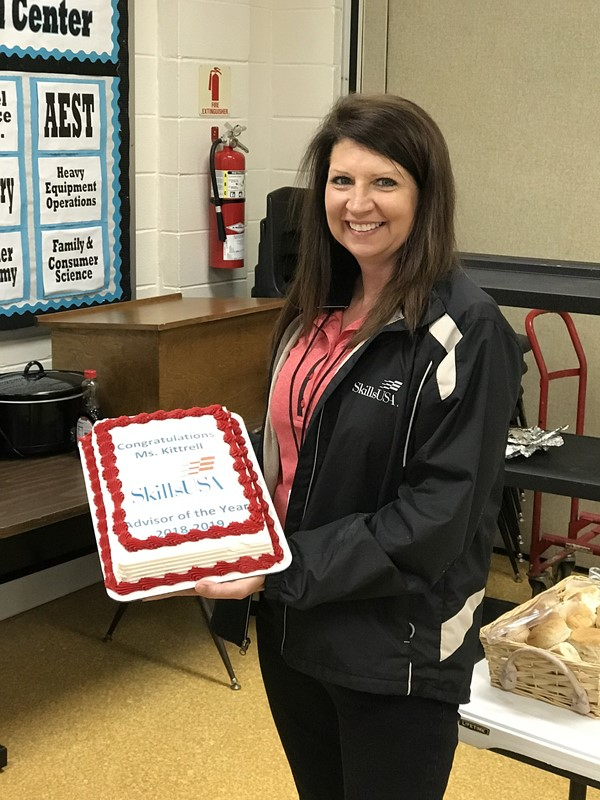 Information Technology instructor, Kristy Kittrell, selected as 2019 SkillsUSA Mississippi Advisor of the Year.