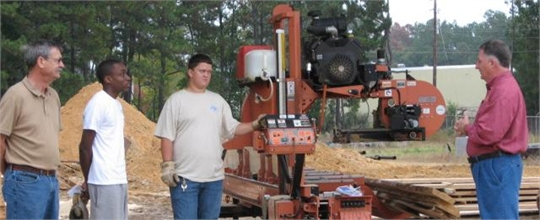 Forestry  class with JCJC instructor