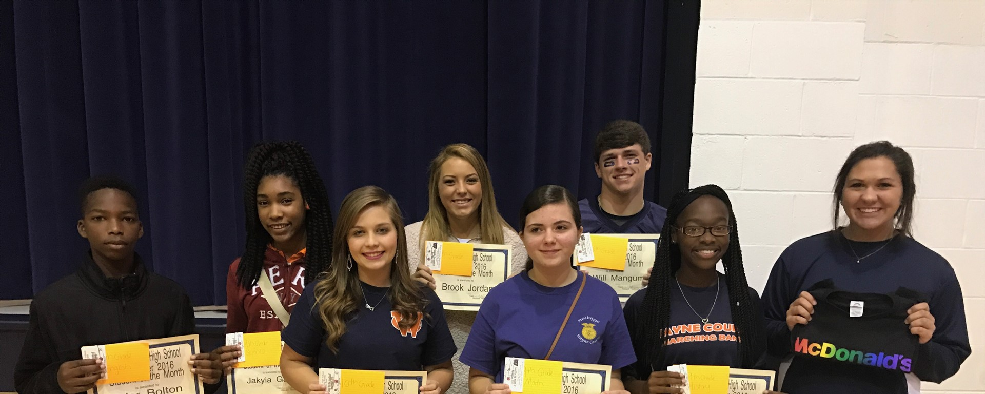 Nov. WCHS Students of the Month