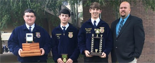 FFA State Winners - Welding Team 1st place